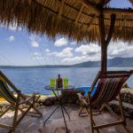 Poolside Rancho area at Finca Malinche, Laguna de Apoyo, Nicaragua