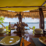 Poolside and Laguna side Rancho at Finca Malinche, Laguna de Apoyo, Nicaragua
