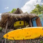 The Rancho kayak rack, at Finca Malinche, Laguna de Apoyo, Nicaragua