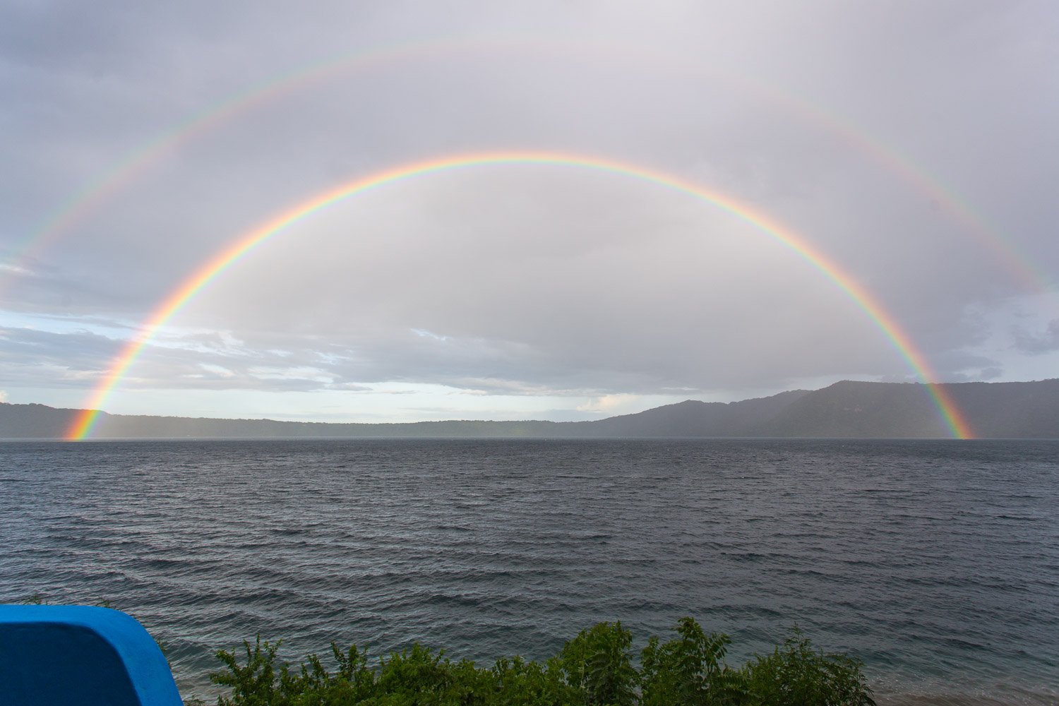 Double rainbow over the laguna de Apoyo